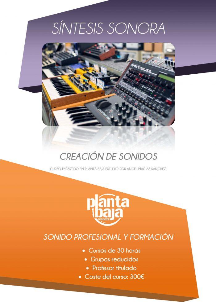 CURSO SINTESIS SONORA - CREACIÓN DE SONIDOS por Ángel Macías Sánchez 2-1